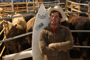 Sullivan McLeod and surfboard