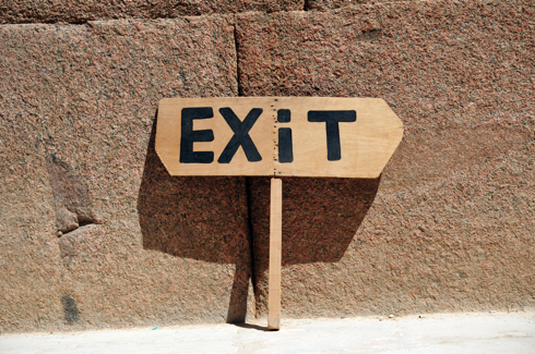 Exit sign in Egypt