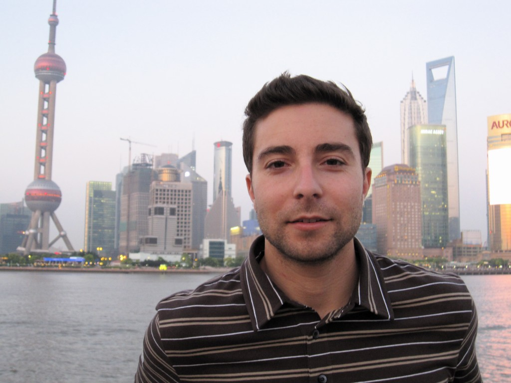 Brook Silva-Braga at the Bund in Shanghai.