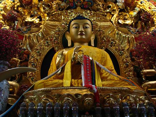 Buddha statue in India