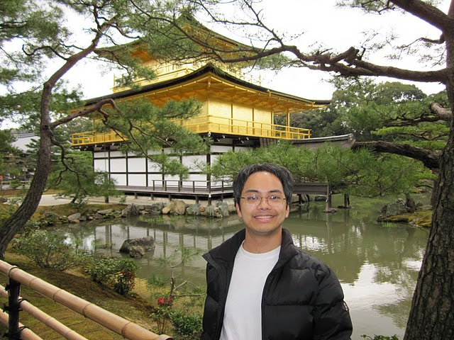 Marcus at Golden Pavilion in Kyoto