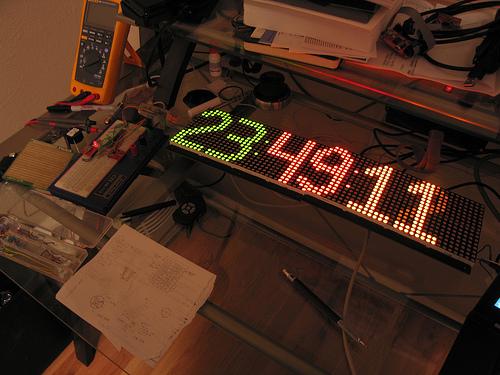 A large digital clock