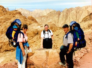 climbing mt sinai with babies