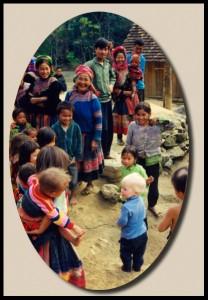 blond baby in Vietnam