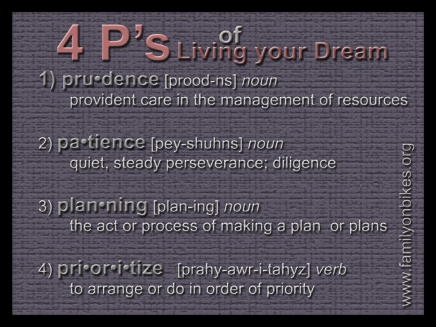 4 P's of living your dream