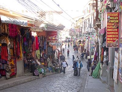 A street in La Paz