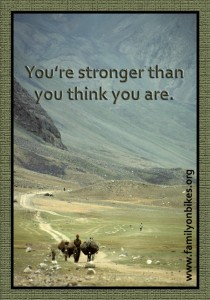 You're stronger than you think you are