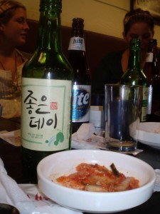 Kimchi and soju: two Korean favorites