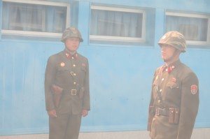 North Korean soldiers get their photos snapped