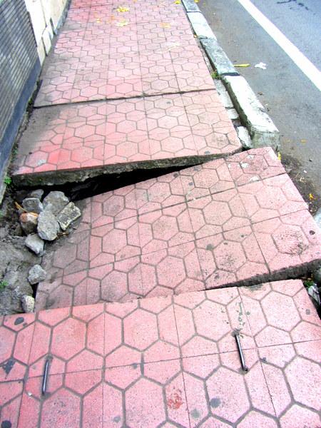 Balinese broken sidewalk