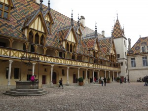 Medieval charity hospital in Beaune, France