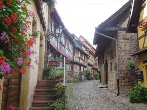Village in rural Alsace, France.
