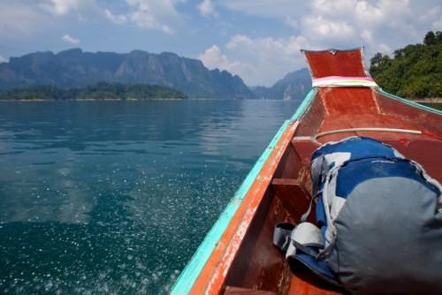 Backpack on boat 2