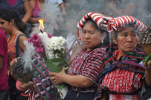 Mayan women in procession