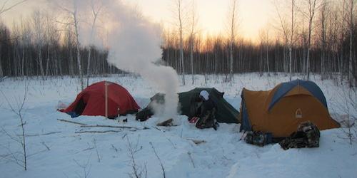 Camping in Siberia