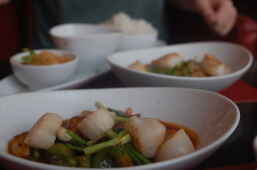 soup with scallops