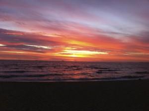 Sunset at St. Kilda Beach, Australia