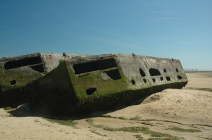 Remains of Mulberry Harbor, Arromanches, Normandy