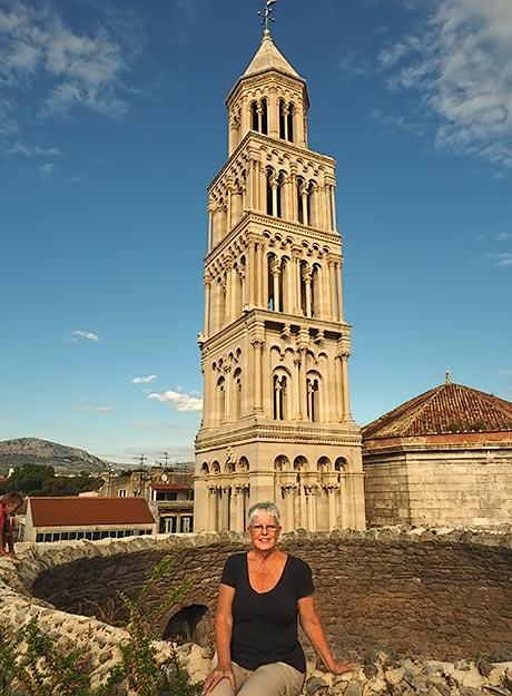Me, just a few days ago, at Diocletian's Palace in Split, Croatia, a happy and healthy seasoned world traveler