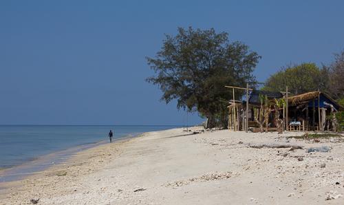 Deserted beaches.
